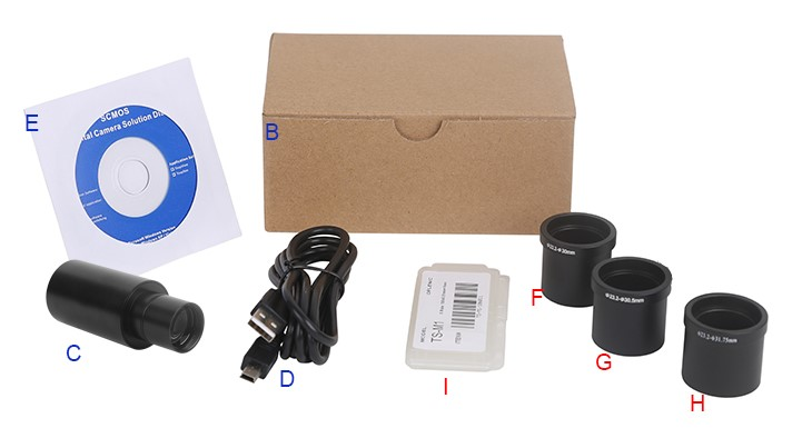 SPCMOS Series USB2.0 CMOS Microscope 23.3mm Eyepiece Camera with Reduction Lens