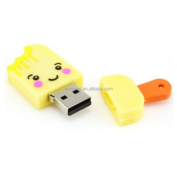 Best school gifts ice cream shape usb key stick with free logo