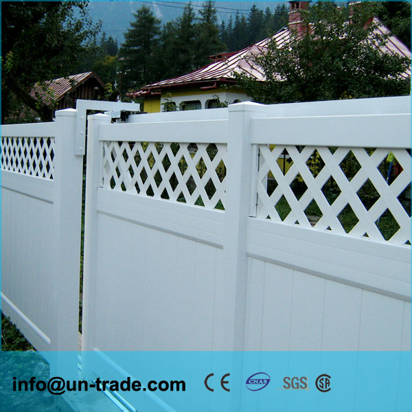5' x 8' White Vinyl Fence / Plastic Picket fence