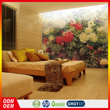 red and white flower wallpaper design oil painting murals vinyl wallpaper wall decor