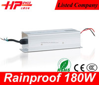 Pretty good quality CE RoHS approved smps transformer constant voltage Rainproof series 180w 12v 15a power supply