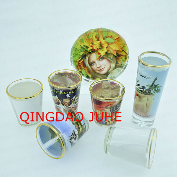 2oz blank sublimation tass with golden edge