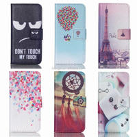 Customized for Touch 5/Touch 6 Case New Flip for iPod Touch 5/Touch 6 Silicone Magnetic Stand Wallet Phone Cases w/ Card Holder
