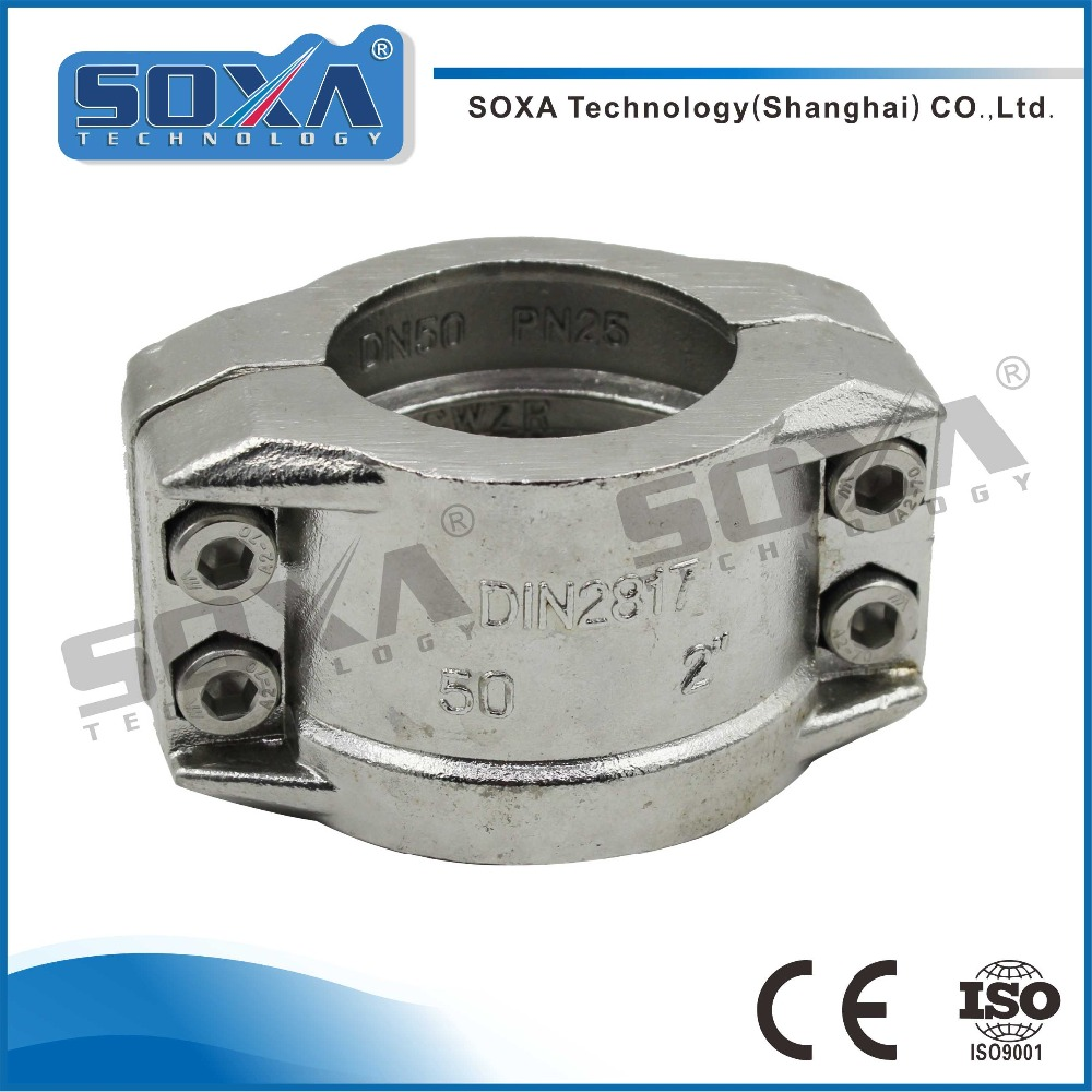 PN25 DN50 Sanitary Stainless Steel Pipe Fitting High Pressure Hose Clamp
