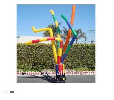 colorful inflatable air dancer