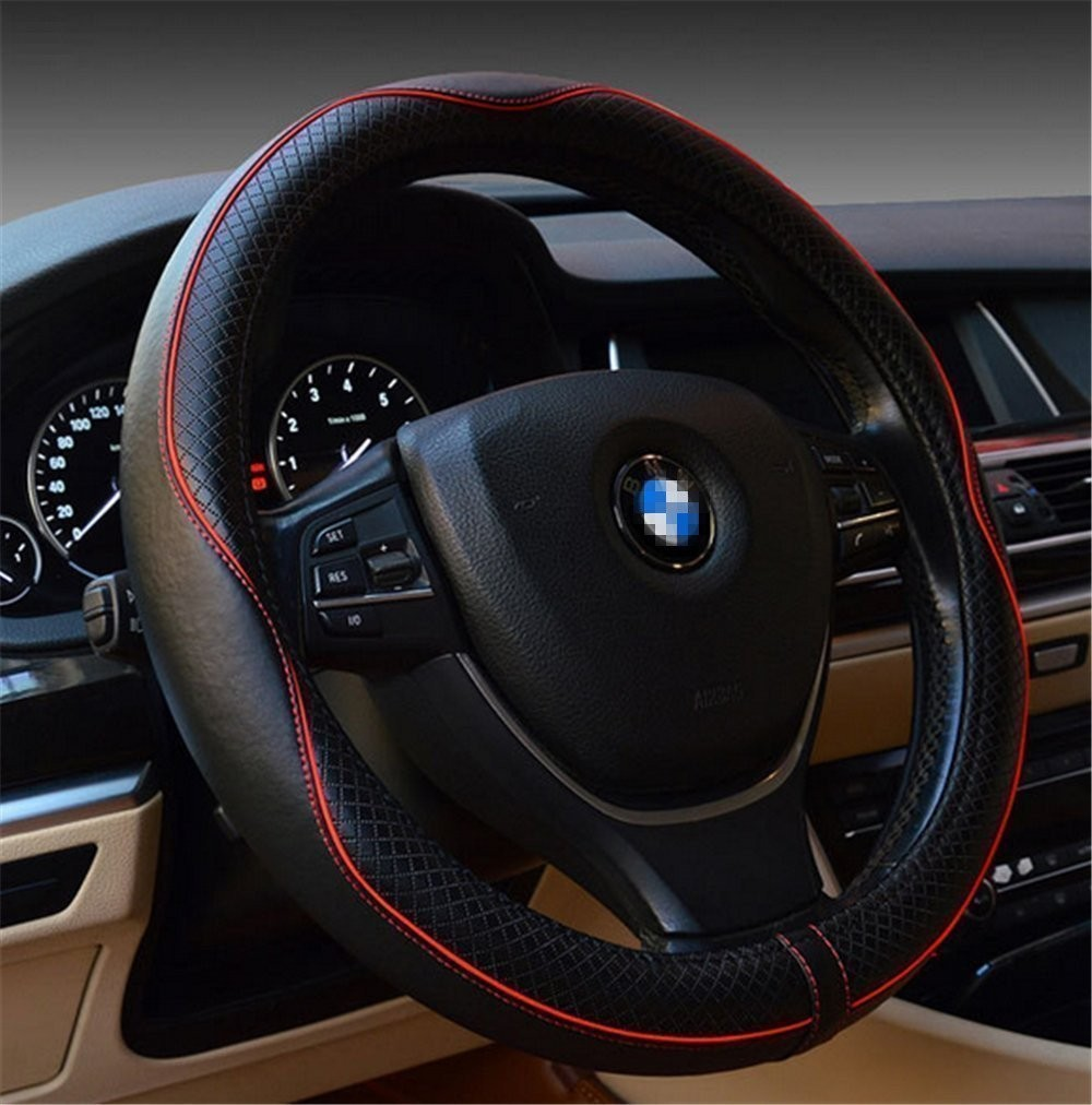 2017 New designing Four Seasons general PVC hand swen car 17A1101 steering wheel cover