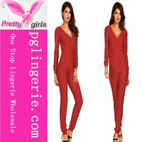 knitted jumpsuit adult 2014 ,adult jumpsuit pajama ,hot selling adult thermal jumpsuit KM006C