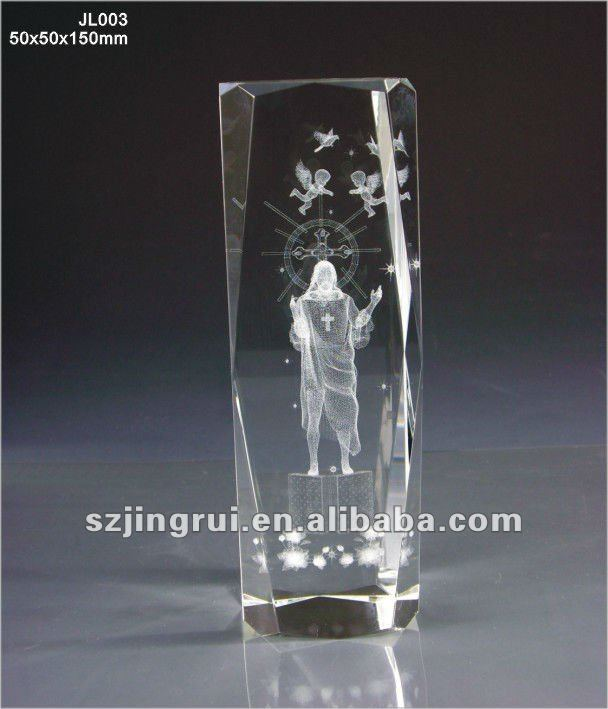 3d laser crystal figurines