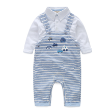 PHB13446 handsome boys spring clothing cartoon baby clothes