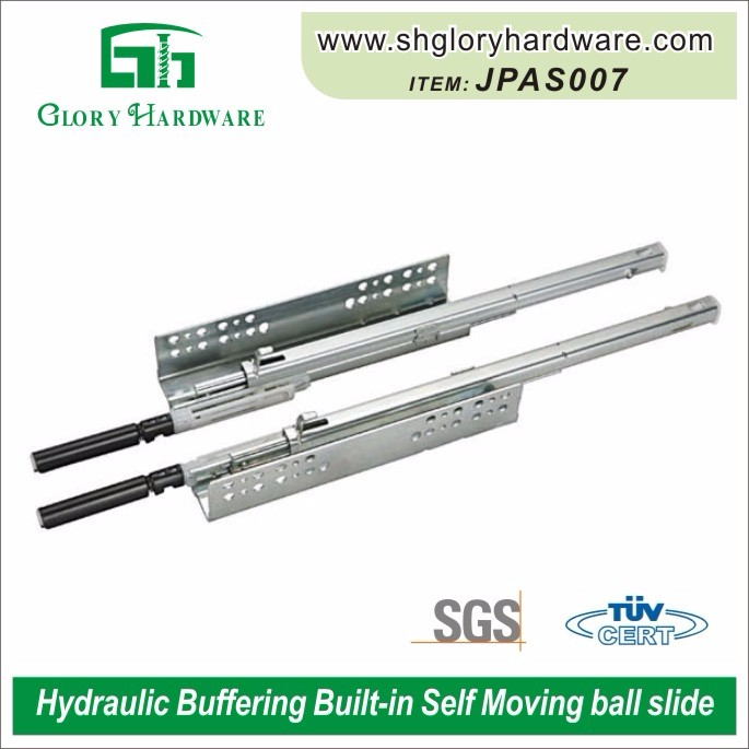 Bulit-in Self Moving Hydraulic Buffering Drawer Slide