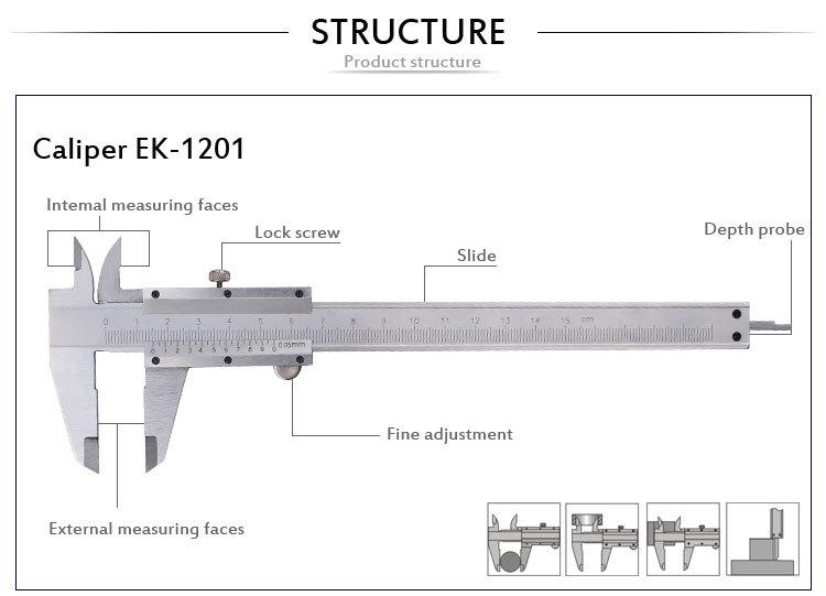 Ek-1201 Open Type Vernier Calipers 0-150mm - Buy Open Type ...
