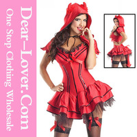 Sexy 2pcs Red Veil Halloween Costumes China Wholesale