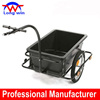 2014 hot sale metal frame plastic tray bicycle trailer