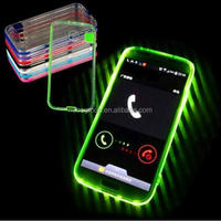 Smart Shiny LED Flash Light Mobile Phone Case TPU Case Transparent Cases For iPhone 5 5S