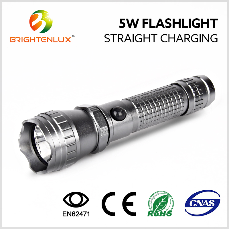 China Manufacturer Supply 3watt aluminum 18650 Battery Led Tactical Rechargeable Flashlights
