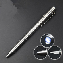 2016 stainless steel tactical flashlight /knife / pen