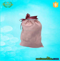 cute reusable natural cotton linen drawstring bag