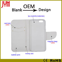 Blank leather case for iphone & other cellphone accept customize wholesale price