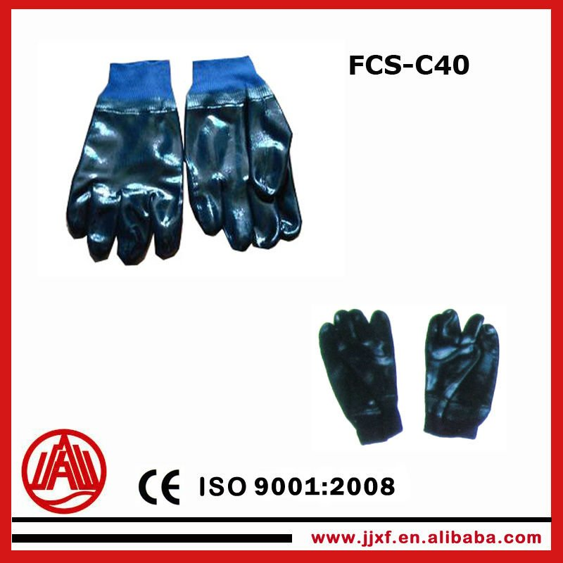 Hot sales!!! allyl cyanide rubber coated Firefighting Anti puncture gloves