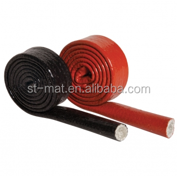 Heat Resistant Silicone Rubber Coated Glass Fibre fire Sleeve