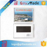 Wholesale custom logo clear acrylic fridge magnet photo frame blank
