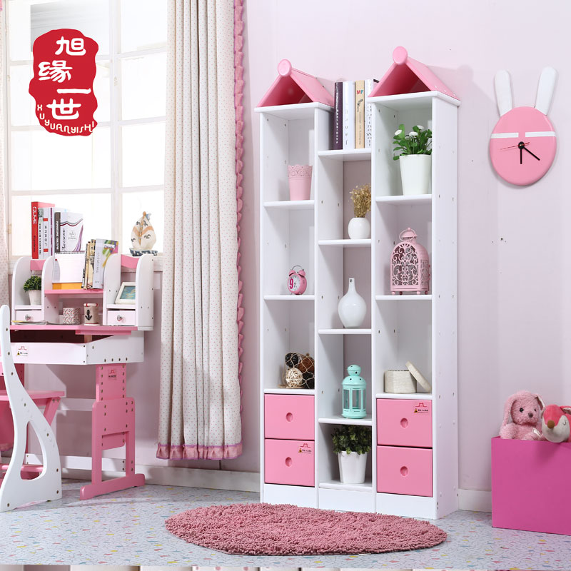 Study room furniture bookcases solid wood bookcase wooden children book shelf