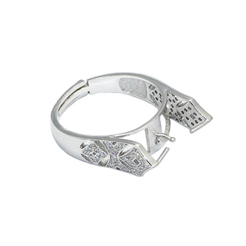 Beadsnice ID30627 925 silver adjustable setting US size 7 to 9 fit 13mm round sold by PC wholesale ring base