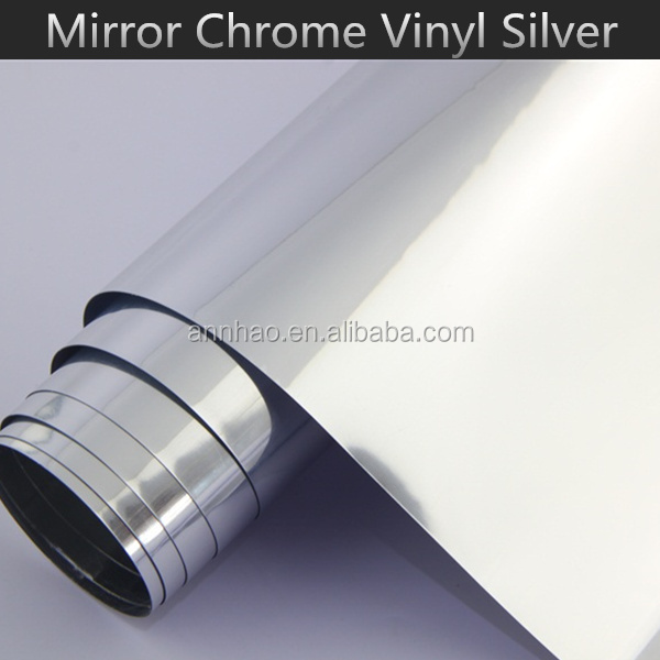 1.52*20M Car Body Wrapping Silver Mirror Chrom Vinyl Film