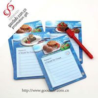 High quality magnetic shopping list/magnetic notepad/magnetic memo pad