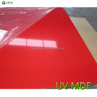 rolling paint high gloss 3-18mm UV MDF