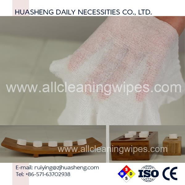 wholesale Restaurant Magic Compressed Coin Tissue / Tablet Compressed Napkin