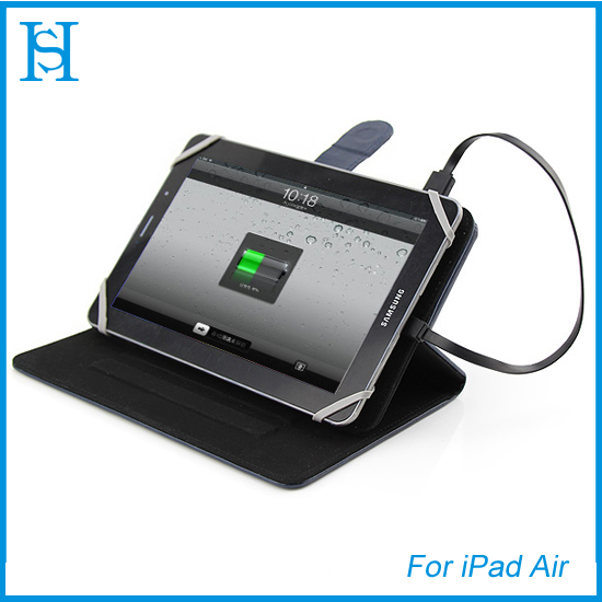 Flip leather cases cover for iPad Air battery cases