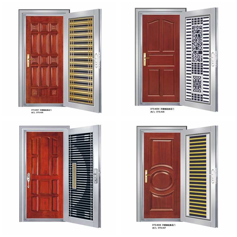 Strengthen steel wooden armored door JH-AM2