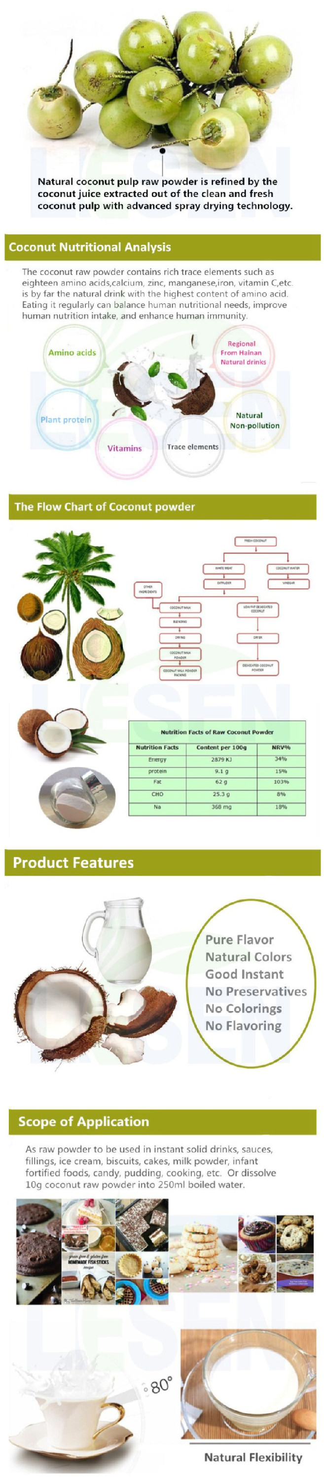 food additives instant coconut water powder