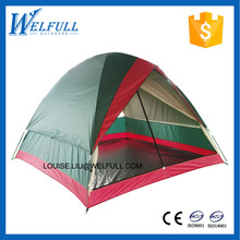 4 Person Outdoor Double Layer Camping Tent With Fiberglass Pole