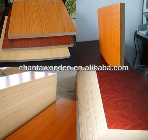 18mm E2 grade melamine mdf,solid color and wood grain color melamine MDF board for Africa market