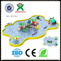Funny toys interactive play kids with adult, interactive water play,interactive water playground slides QX-080A