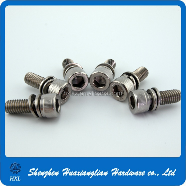 High tensile stainless steel captive washer socket head cap screw