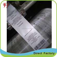 Professional taffeta full color printing fastness damask woven care labels for clothing
