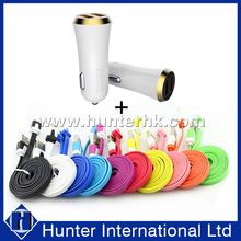 Popular 2 in 1 Cable Bundle Kit Car Charger
