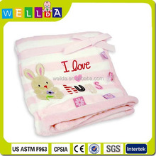Comfortable embroidery handmade baby blankets wholesale