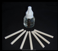 Porous ceramic wick for electric mosquito killer liquid