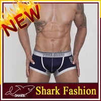 Shark Fashion cotton boxer trunk wholesale mens underwear trunks for export