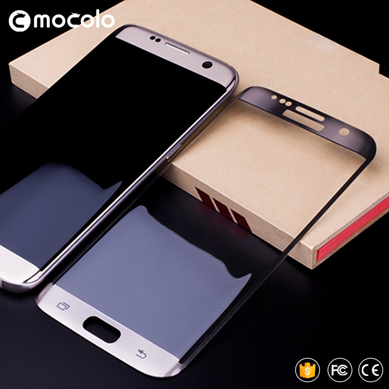 Mocolo Premium Tempered Glass Protective Flim for Galaxy s7 edge 3d curved tempered glass Metal Silk Tech