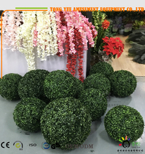 Hot Sale Hanging Artificial Milan Grass Ball/ Geen Boxwood Topiary Balls