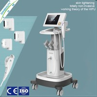 Keeping a youth skin beauty boby and face whitening HIFU face lift machine