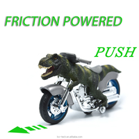 "BigNoseDeer dinosaur motorcycle toys - animal friction motorcycles toys dinosaurs Tyrannosaurus T Rex 7.1"" x 4"""