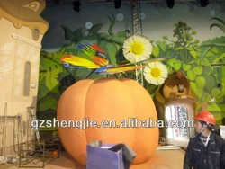 China guangzhou manufacturer wholesale decorative fake huge FRP artificial pumpkin fruits for decoration