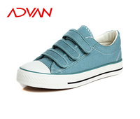 Wholesale Woman Canvas Casual Shoes with Hook and Look Tape Flat Female Shoes India Cheap Shoes