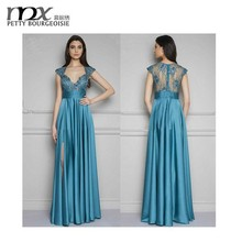 Long elegant see through women lace maxi dress evening dress